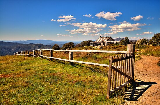 Open Gate - Craigs Hut , Mount Sterling - The HDR Experience by Philip Johnson