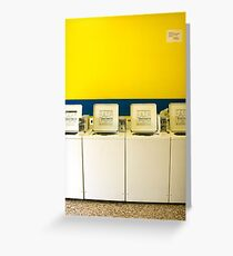Ensure washers and dryers are clean before use. Greeting Card