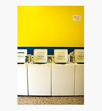 Ensure washers and dryers are clean before use. Photographic Print