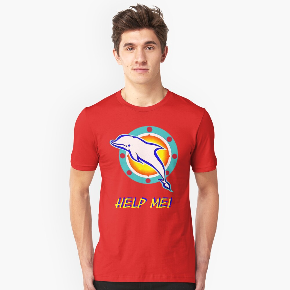 dolly the dolphin Unisex T-Shirt Front