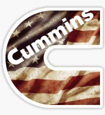 American Flag Cummins Sticker