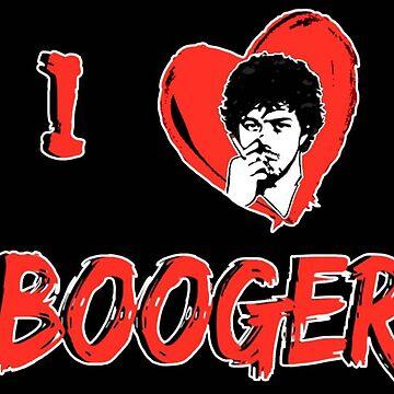 I Love Booger by Italianricanart