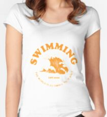 mac miller swimming Fitted Scoop T-Shirt