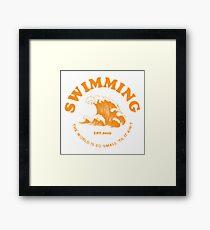 mac miller swimming Framed Print