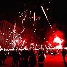 Fireworks in Red by Mitchell Blatt, China Travel Writer