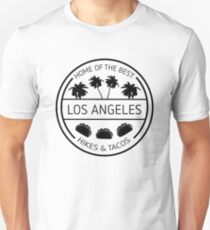 LA Hikes and Tacos Letterkenny Slim Fit T-Shirt