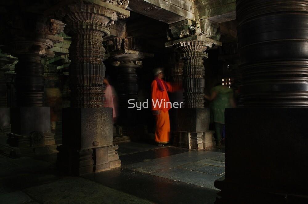 Orange man, Somnathpur, India by Syd Winer