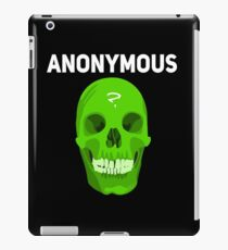 Anonymous The Hacker known as 4chan We Are Legion Expect Us T-Shirt iPad Case/Skin