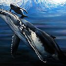 Wright whale and pup. by Robert David Gellion
