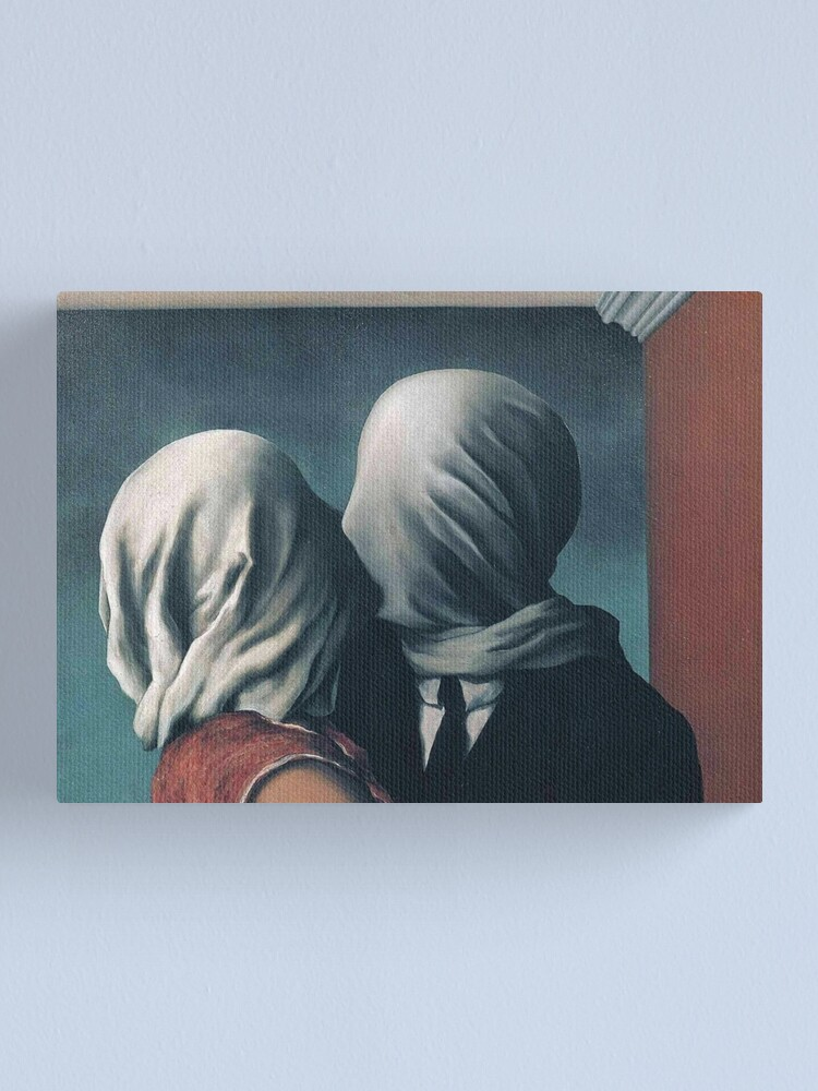 "Alternate view of Magritte's ""The Lovers II"" Canvas Print"