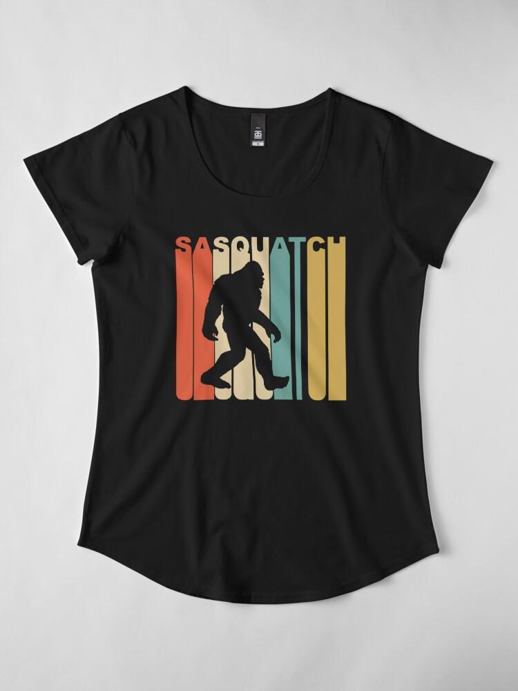 Alternate view of Sasquatch Premium Scoop T-Shirt