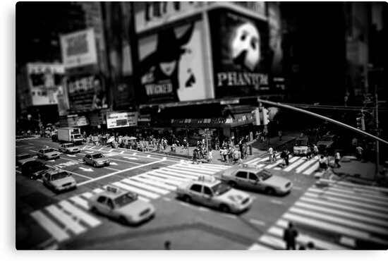 New York Times Square Black and White by Gerald Holubowicz