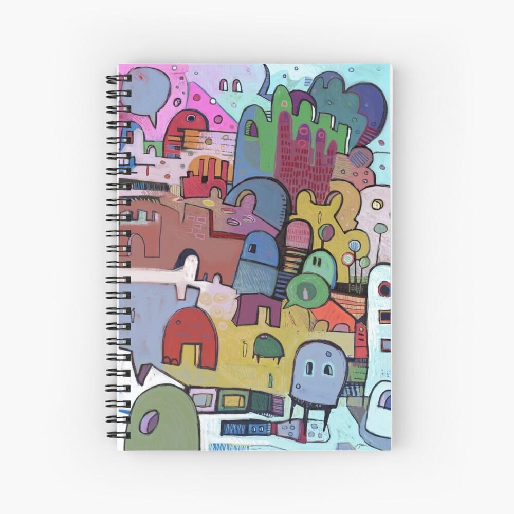 open to evoke Spiral Notebook