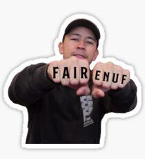 fair. enough. Sticker