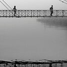 Bridge over calm waters by awefaul