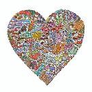 Buntes Herz / Liebe von MushroomOTD