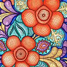 Watercolor Doodle Art | Rafflesia by coloringiship