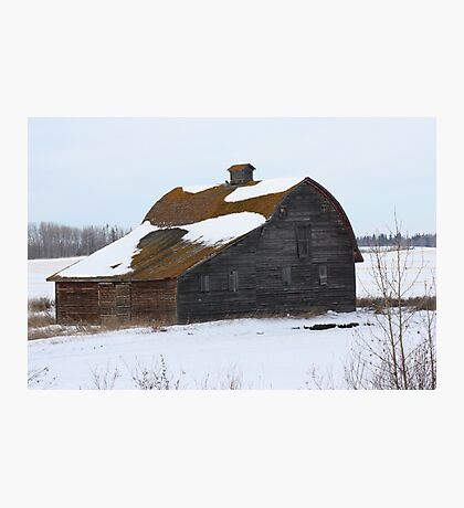 Lonely Prairie Barn   Photographic Print