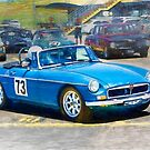 Blue MG by Stuart Row