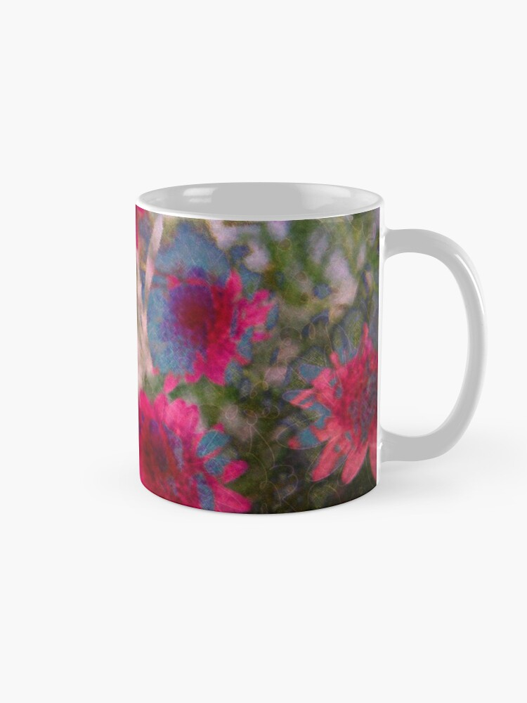 Alternate view of Abstract flowers Mug