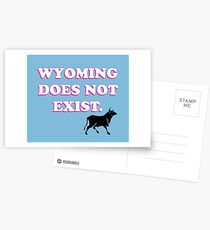 Wyoming Doesn't Exist Postcards