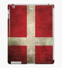 Old and Worn Distressed Vintage Flag of Denmark iPad Case/Skin