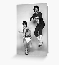 Dynamic Duo \\ Mork and Mindy Greeting Card