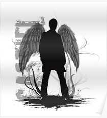 Castiel the Angel Poster