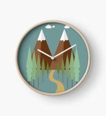 Twin Peaks in Winter Clock