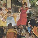 Edgar Degas French Impressionism Oil Painting Woman Singing on Stage by jnniepce