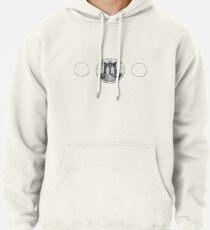 Brooklyn Bridge New York City (black & white triple badge style on white) Pullover Hoodie