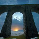 Sunset Thru Ribblehead Viaduct by Mark Dobson