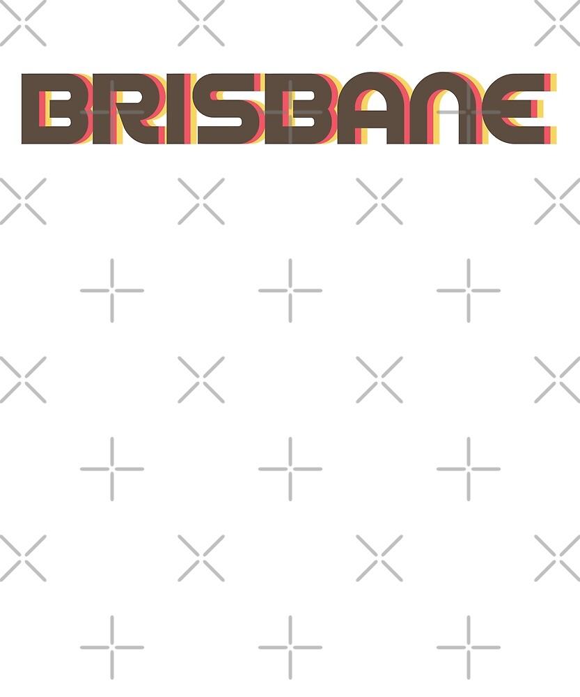 Retro Brisbane T-Shirt by designkitsch