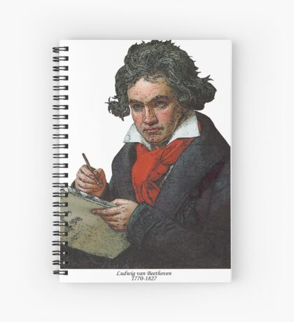 Ludwig van Beethoven Grunge Spiral Notebook
