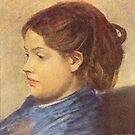 Edgar Degas French Impressionism Oil Painting Side Portrait of Woman by jnniepce