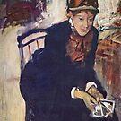Edgar Degas French Impressionism Oil Painting Portrait of Mary Cassatt by jnniepce