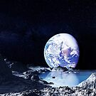 moon and earth by clad63