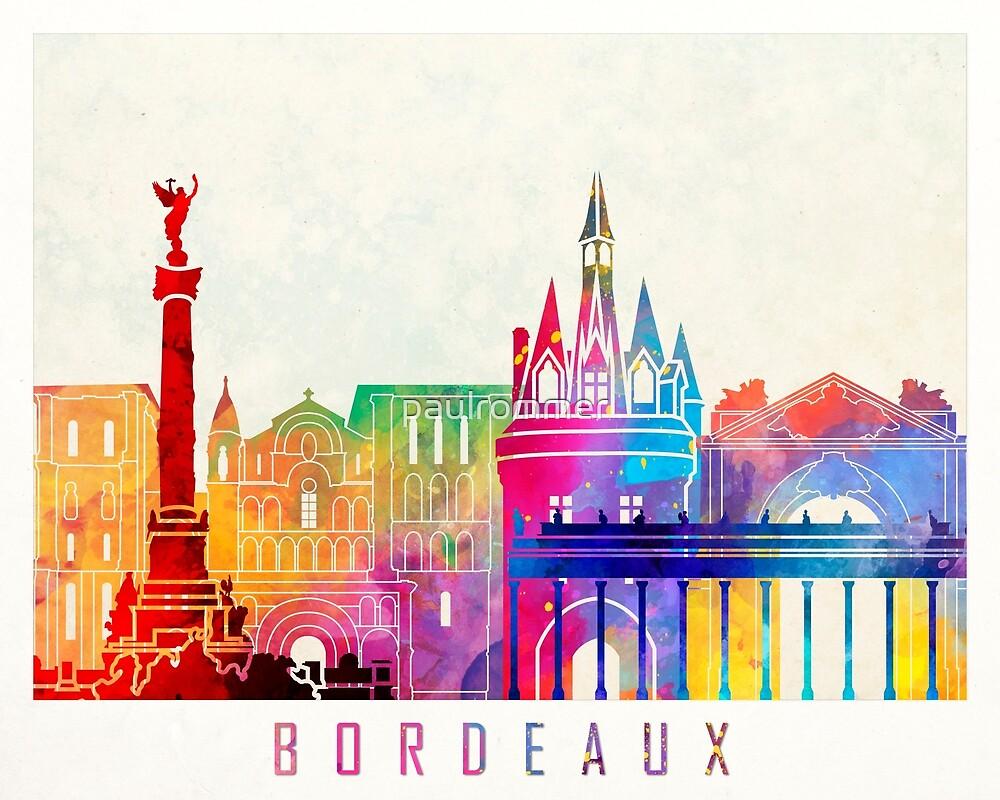 Bordeaux-Markstein-Aquarellplakat von paulrommer