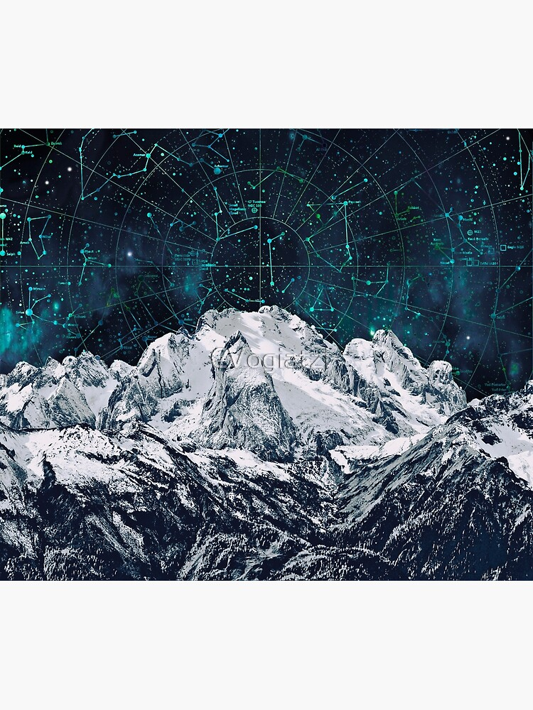 Constellations over the Mountain by CVogiatzi