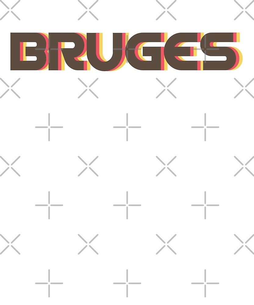 Retro Bruges T-Shirt by designkitsch