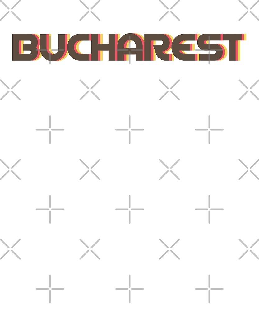 Retro Bucharest T-Shirt by designkitsch