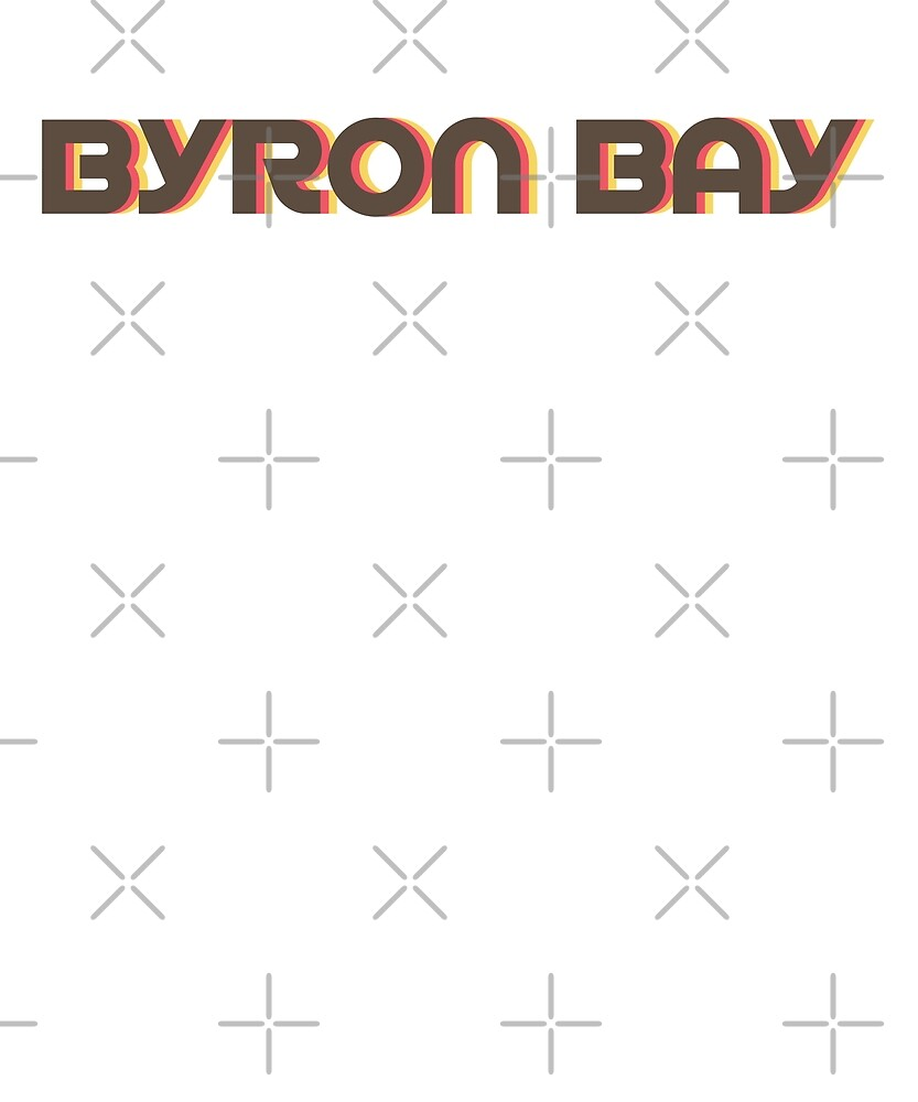 Retro Byron Bay T-Shirt by designkitsch