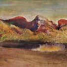 Edgar Degas French Impressionism Oil Painting Colorful Mountain and Trees Landscape by jnniepce