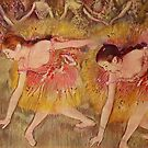 Edgar Degas French Impressionism Oil Painting Ballerinas Performing Dancing by jnniepce