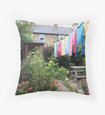 angela's garden Throw Pillow