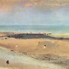 Edgar Degas French Impressionism Oil Painting Ocean Beach Landscape by jnniepce