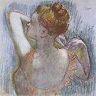 Edgar Degas French Impressionism Oil Painting Woman Dressing by jnniepce