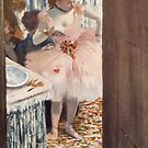 Edgar Degas French Impressionism Oil Painting Ballerinas Dressing by jnniepce