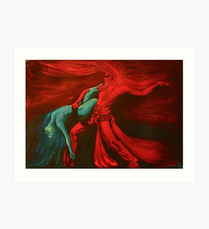Fire and water dance    Art Print
