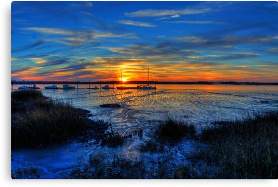 Low Tide at Sunset by Jane Best